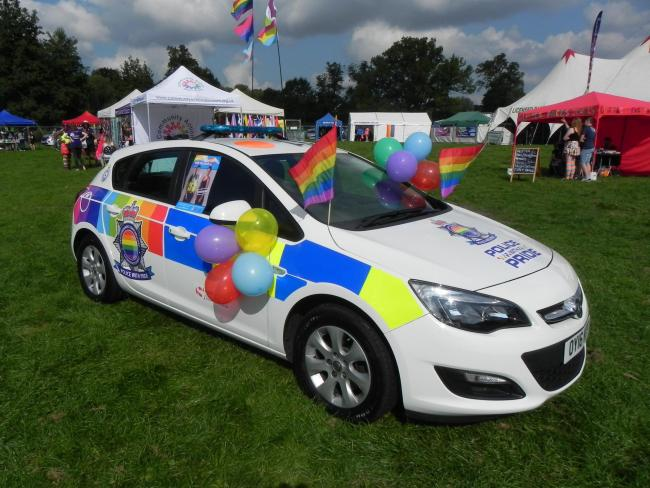 The vehicle was launched at the Herts Pride celebration