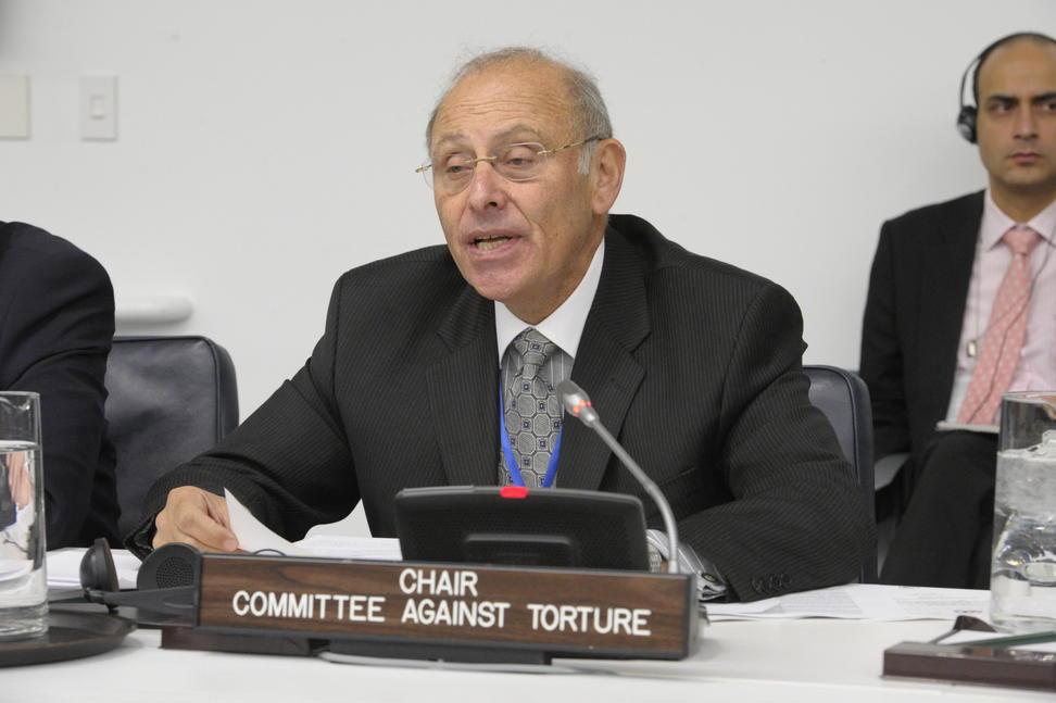 Chairperson of the UN Committee against Torture Claudio Grossman. UN Photo/Evan Schneider