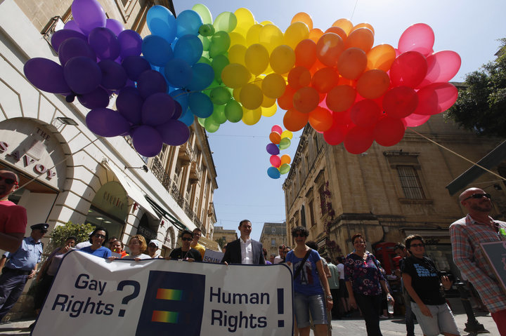 A gay pride parade in Valletta, the capital of Malta, in 2013. DARRIN ZAMMIT LUPI/REUTERS