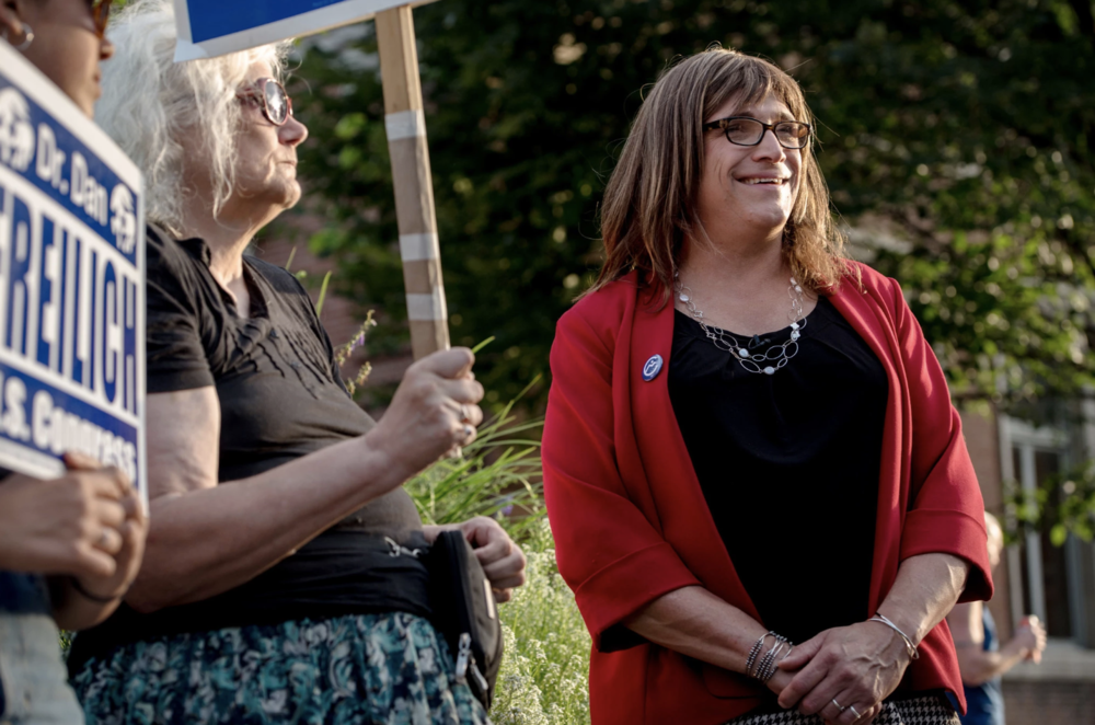 With her primary win on Tuesday, Christine Hallquist, a Vermont Democrat, became the first transgender candidate to be nominated for a governorship by a major party.CreditHilary Swift for The New York Times