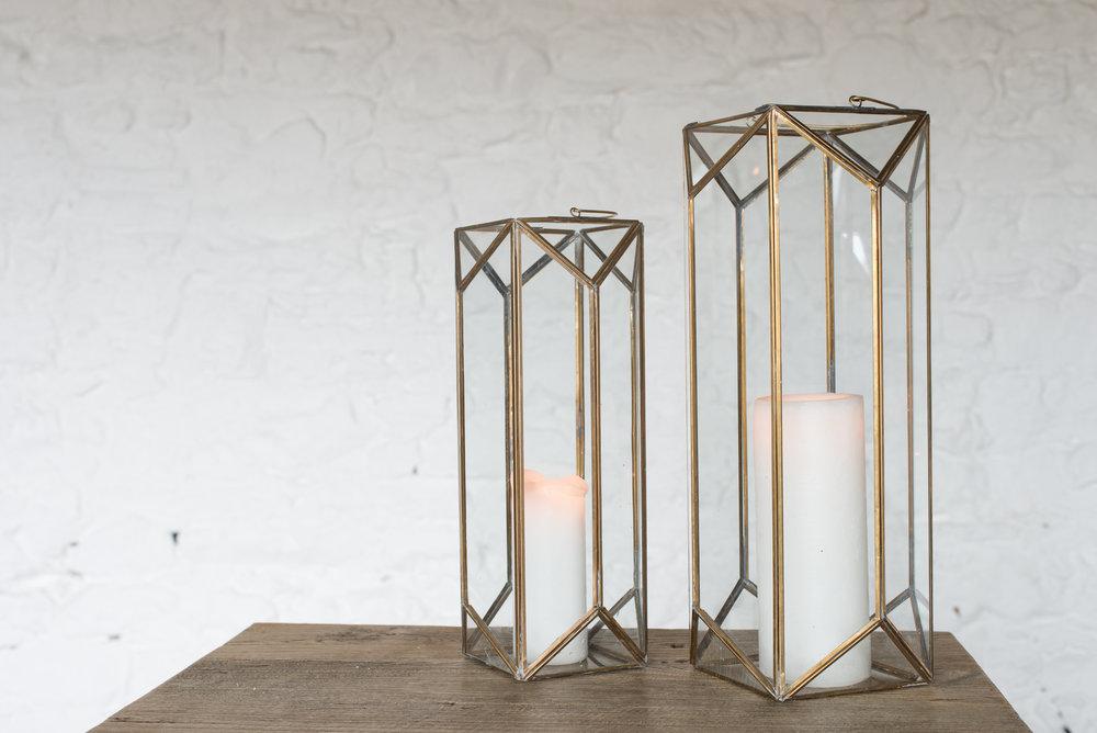Nkuku Brass Lanterns (Med & Lge)