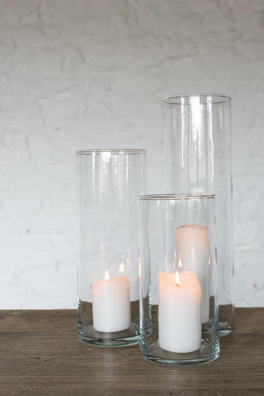 Glass Hurricane Cylinders (10''//13''/17'')