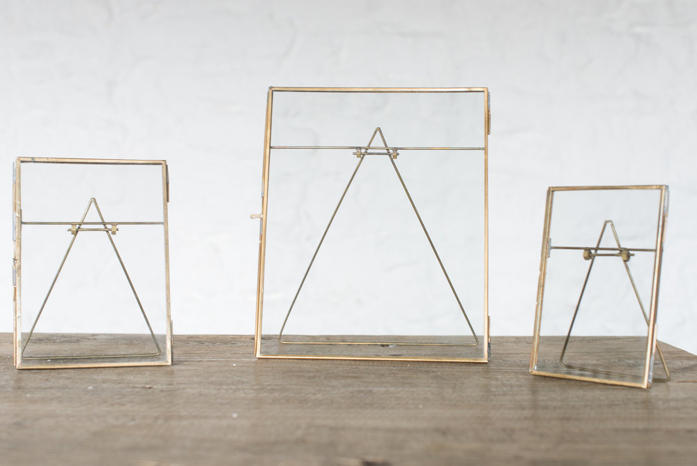 Nkuku Brass & Glass Frames (4x8''//5x7''//8x10'')
