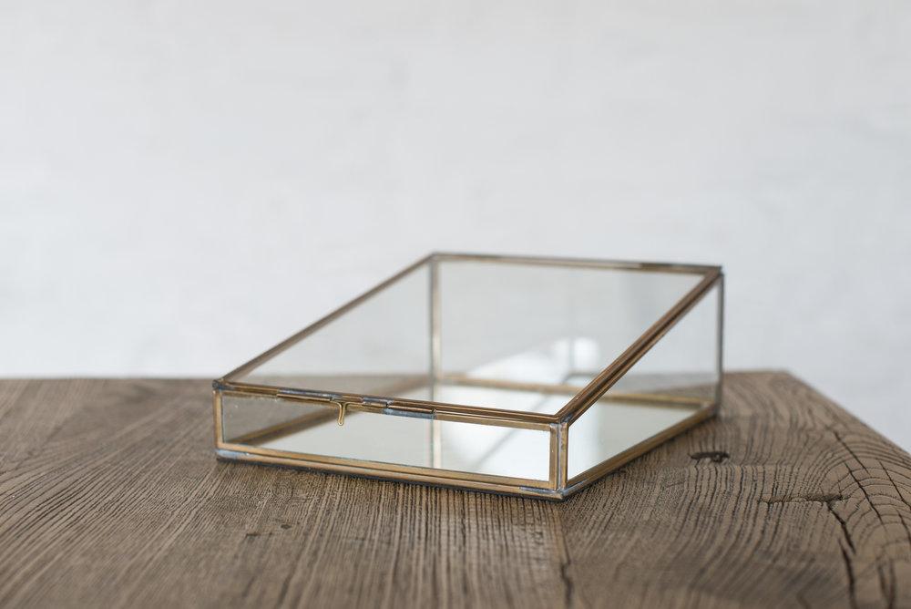Nkuku Brass & Glass Box