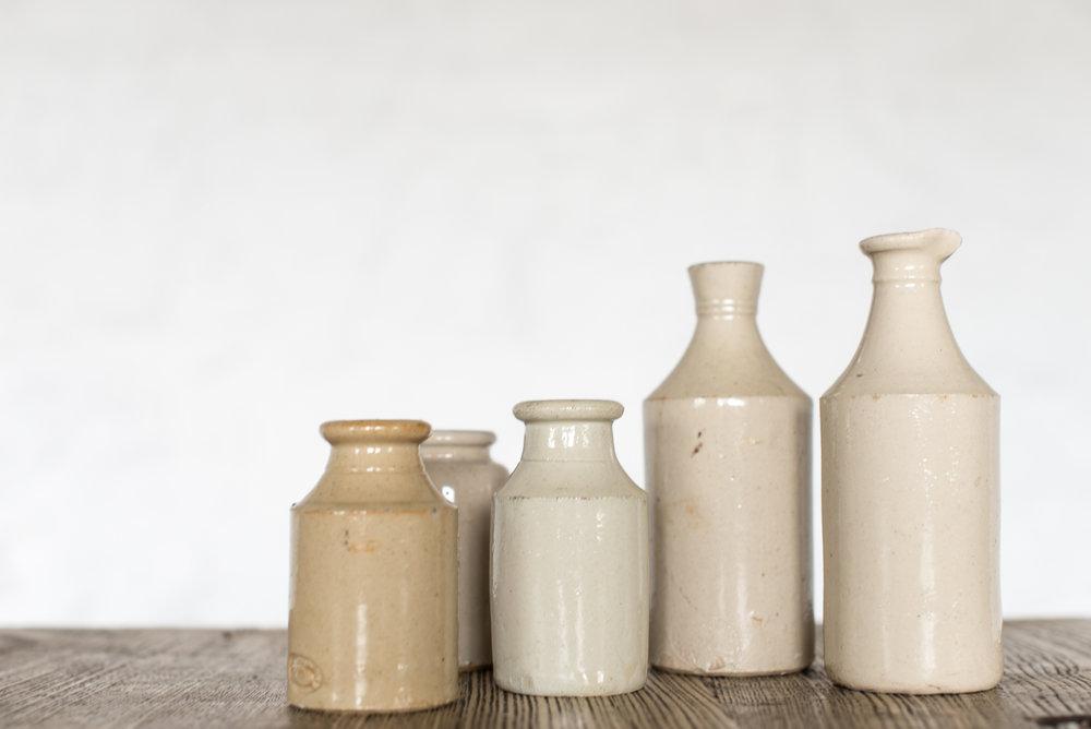 Vintage Ceramic Bottles (Various)