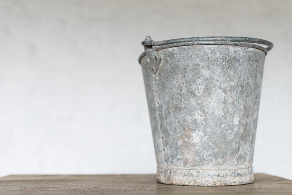 Vintage Zinc Buckets (Various)