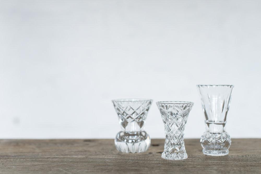 Cut Glass Bud Vases (Various)