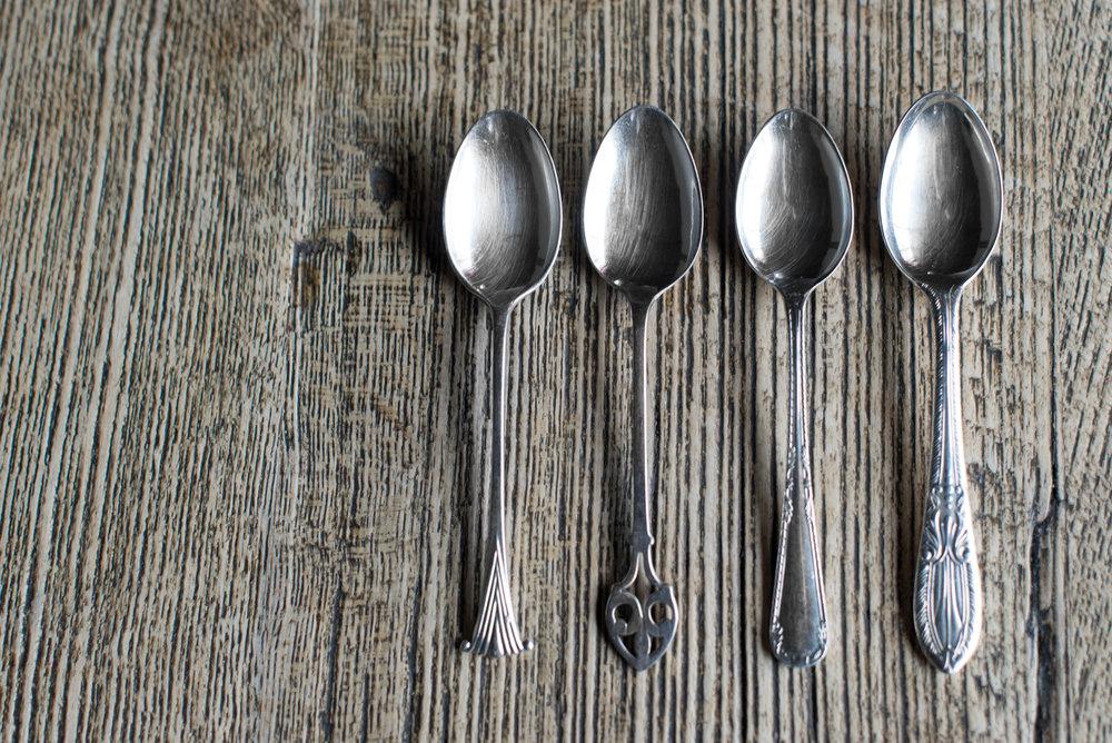 Vintage Silver Plate Teaspoons (Various)