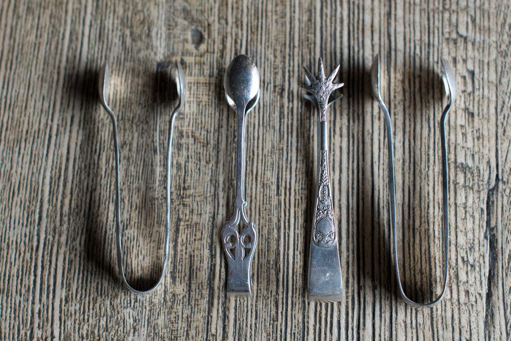 Vintage Silver Sugar Tongs (Various)