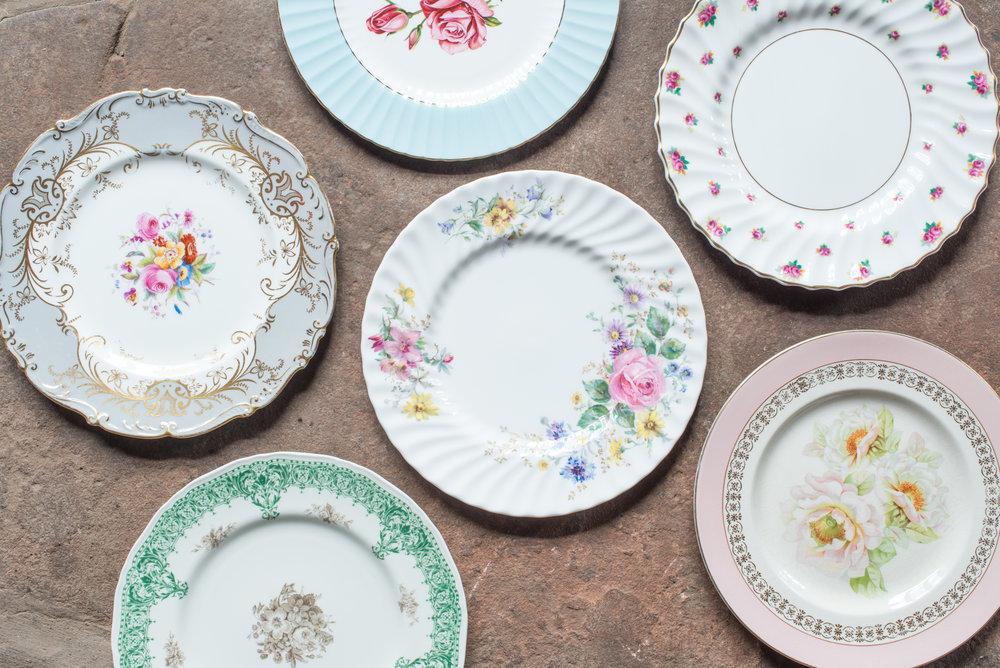 Vintage China Dinner Plates