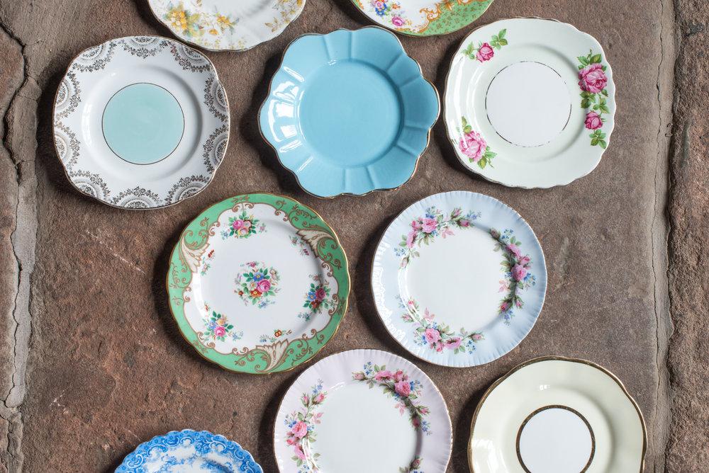 Vintage China Tea Plates