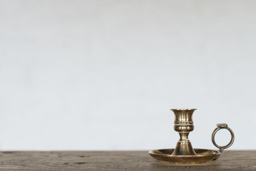 Vintage Brass Candlesticks (Handles//Varied)