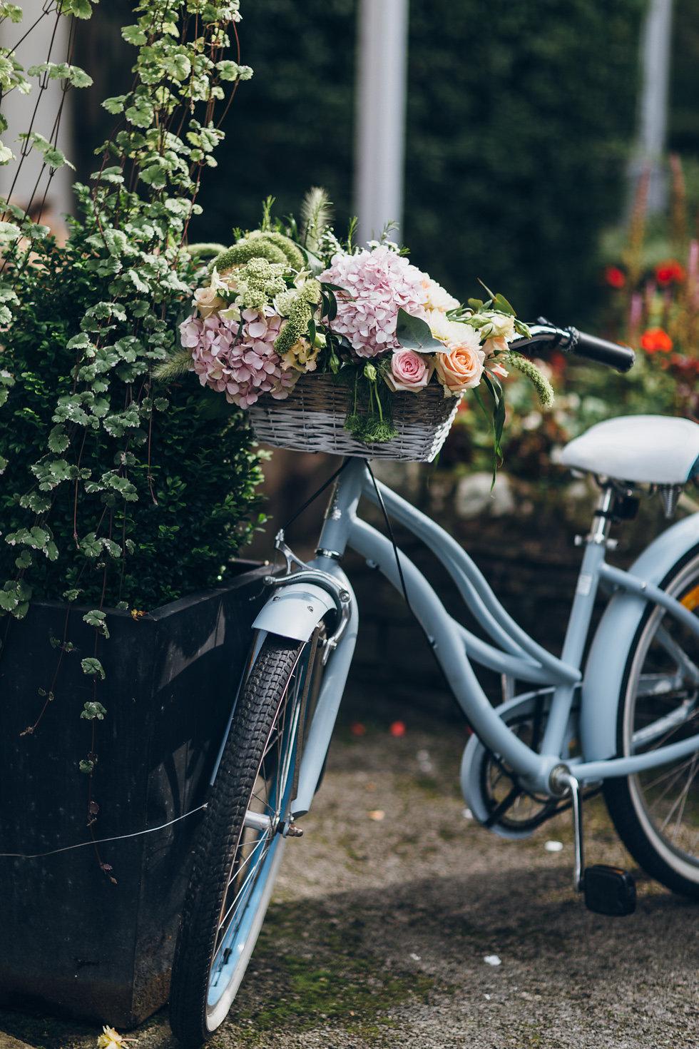 Blue Bicycle & Basket