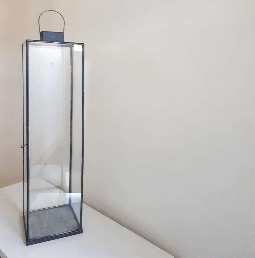 Nkuku Black Metal & Glass Lantern (28inches)