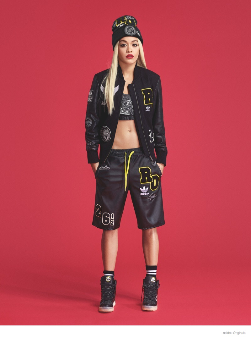 Rita modeling in her Rita for Adidas Originals clothing.