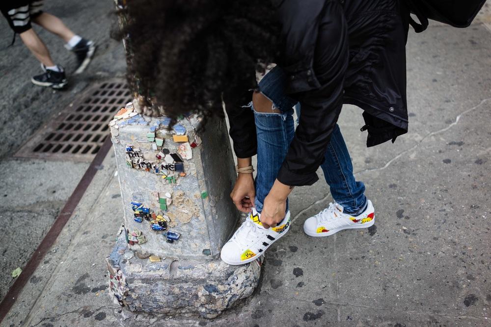 Sneakers painted by: Lavan Wright