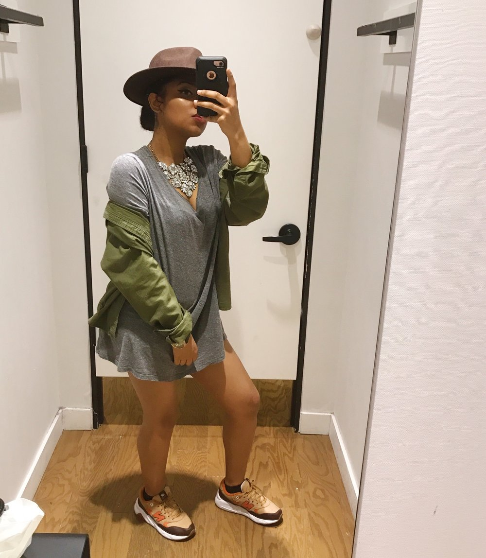 Hat: Forever 21 | Sneakers: New Balance