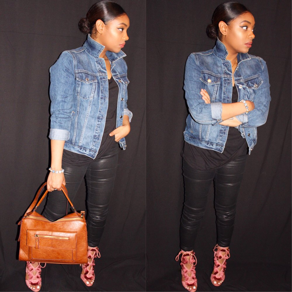 Jacket: GAP | Shirt: H&M | Jeans: H&M | Bag: Boutique | Shoes: Lolashoetique