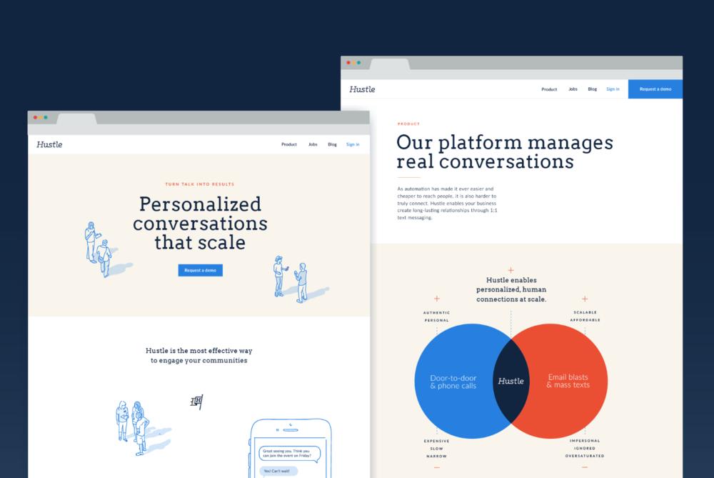 Hustle - Rebrand + Website Redesign