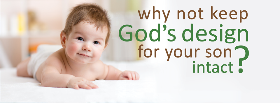 """Img: Smiling baby having tummy time. Text: """"Why not keep God's design for your son intact? littleimages.org"""""""