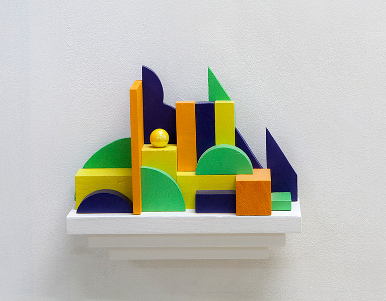 kidd_2013_Wall-sculpture-#3-(orange)_Shelf-wooden-blocks-balsa-wood-marble-enamel-paint-glue_21-x-26-x-9cm-.jpg