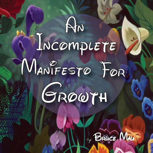 Using Bruce Mau's manifesto, I laid out a small book using Alice in Wonderland images.