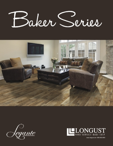 This is a product catalog for a flooring company showcasing a new line of wood flooring.