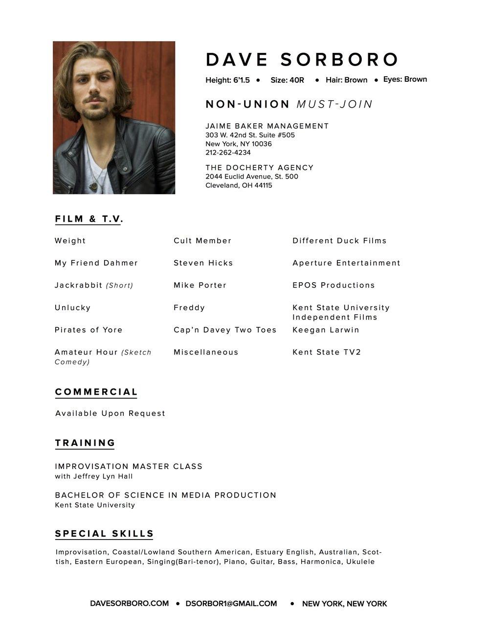 Talent Resume - Dave Sorboro.jpg