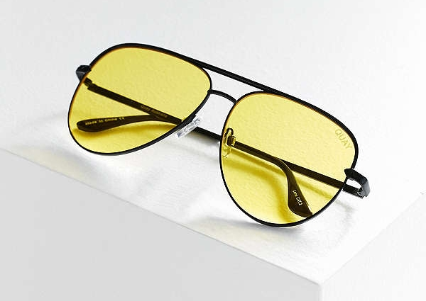 Yellow Aviator  - Quay x Urban Outfitters