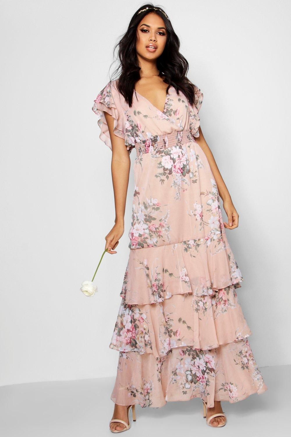 Boohoo - BoutiqueMol Vintage Floral Ruffle Maxi Dress$41 - AT BOOHOO
