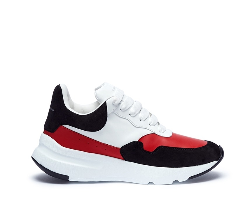 Alexander McQueen -Chunky suede panel leather sneakers$615 - AT LANE CRAWFORD