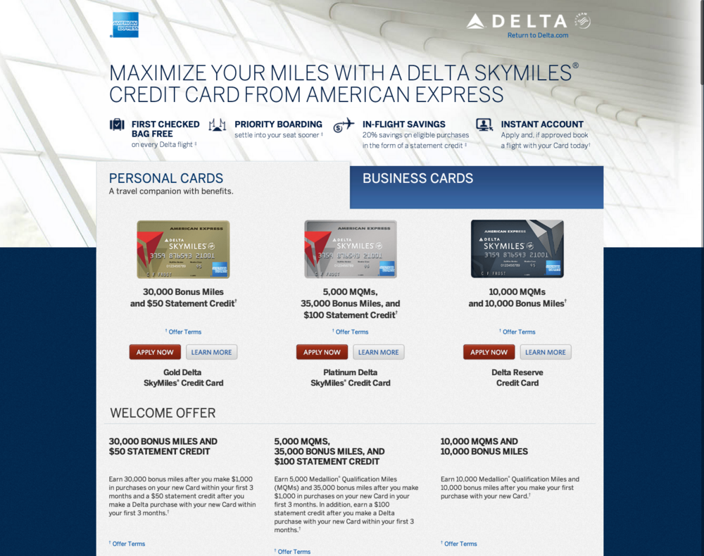 AMEX Delta Landing Page — Anis Hoffman