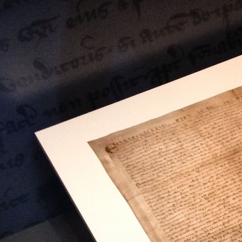 Magna Carta, City of London, Guildhall Art Gallery, Nov. 2014.