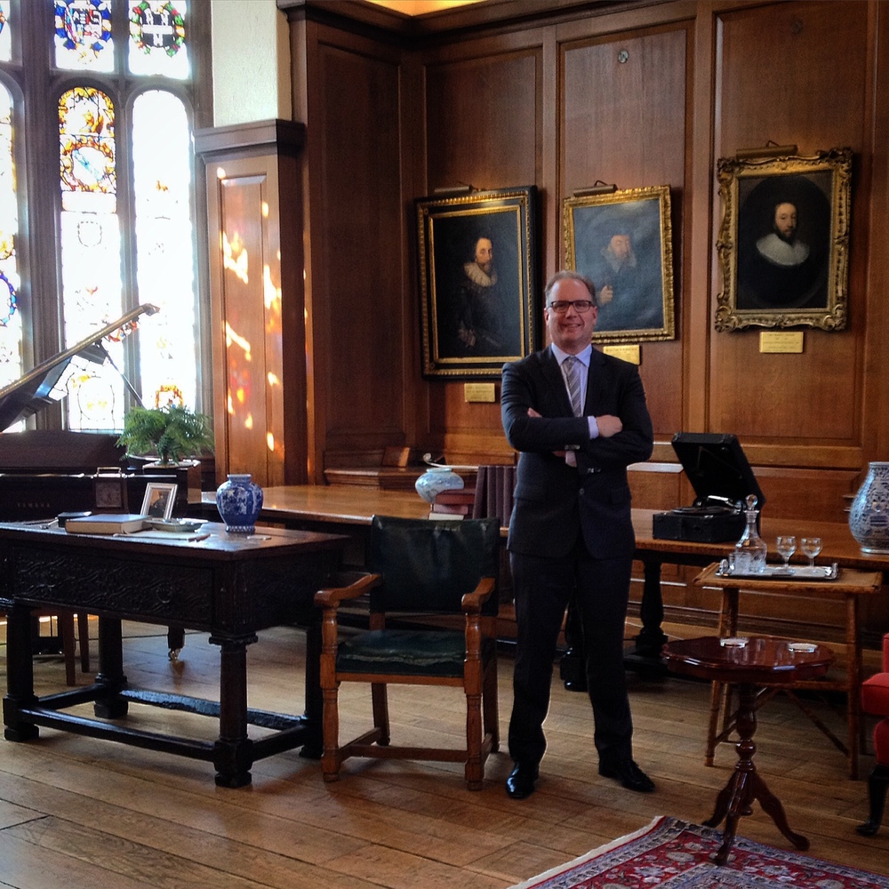 Scott Wright, author of the play, in the Hall at Gray's Inn, one hour before the 2nd July 2015 London premiere of the play.