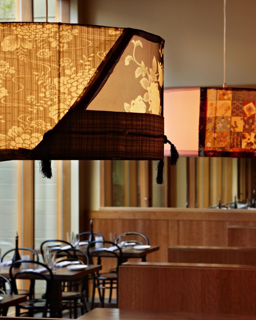 """Kimono Lamp"" Momiji Restaurant, Seattle."