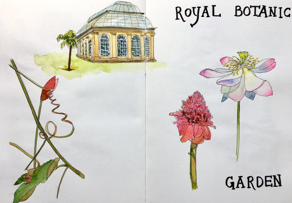 The Royal Botanic Garden was a peak experience. We were happy to spend the better part of a day there.