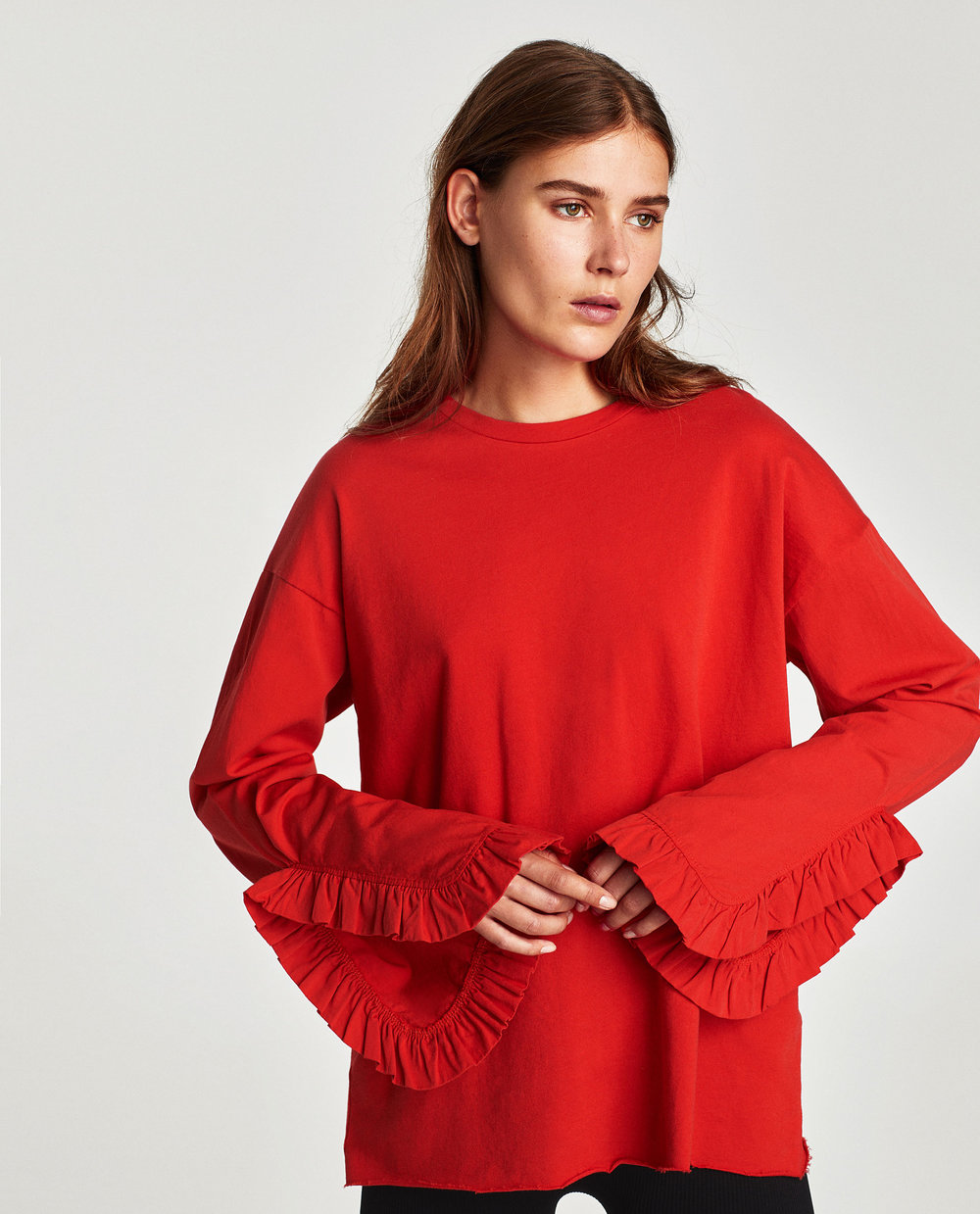 Zara Top with Frill Sleeve, $22.90
