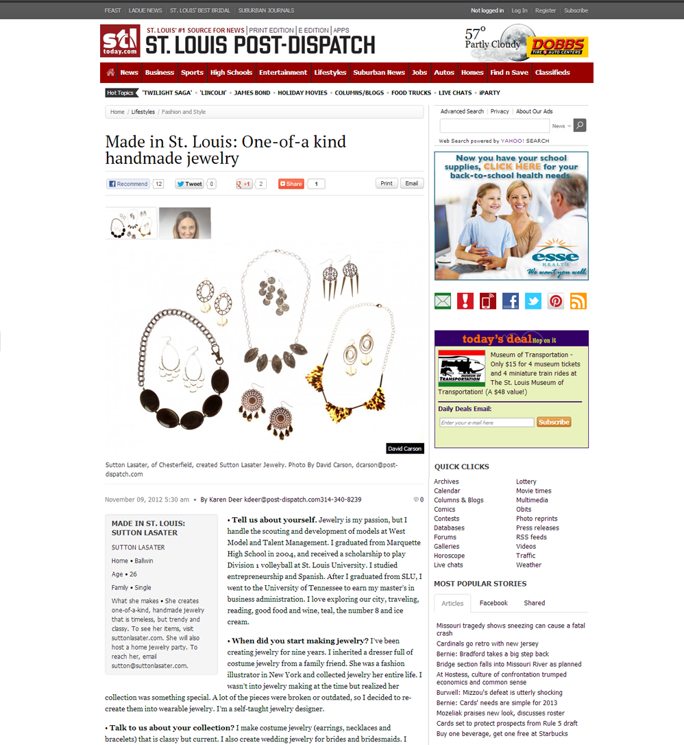 "St. Louis Post Dispatch ""Made in St. Louis"" Feature"