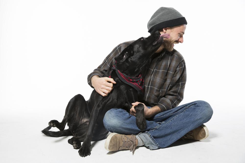 Ryan Gebura and his dog, Mali.