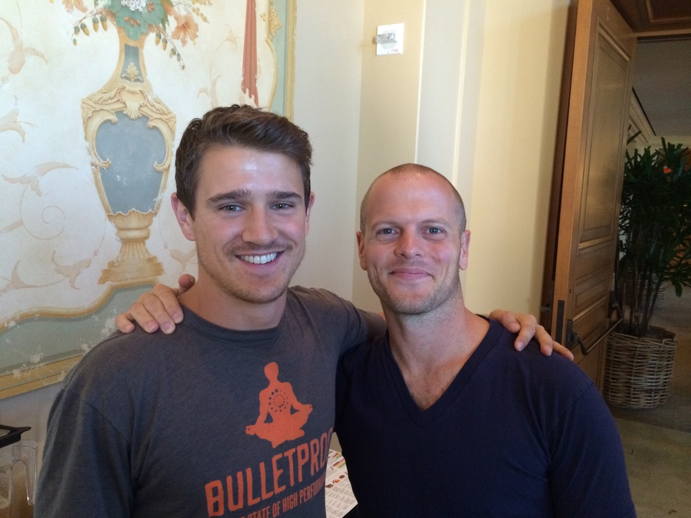 Jordan and Tim Ferriss (Best-selling author of The Four Hour Workweek)