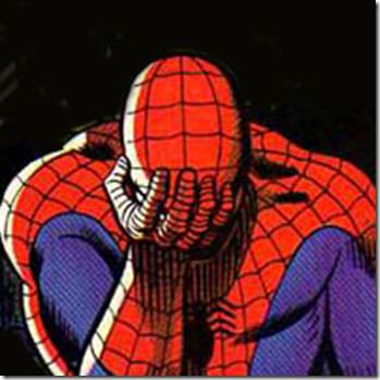 Working all day and fighting crime all night will even take a toll on Spidey