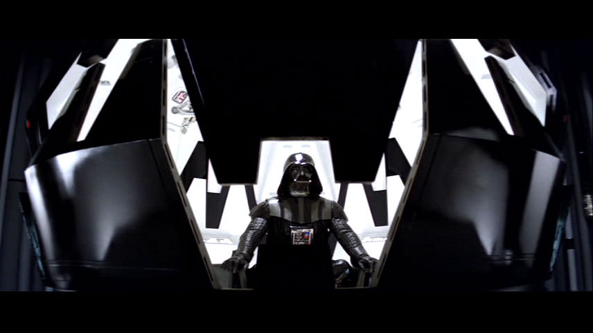Darth Vader meditating on the Dark side of the Force