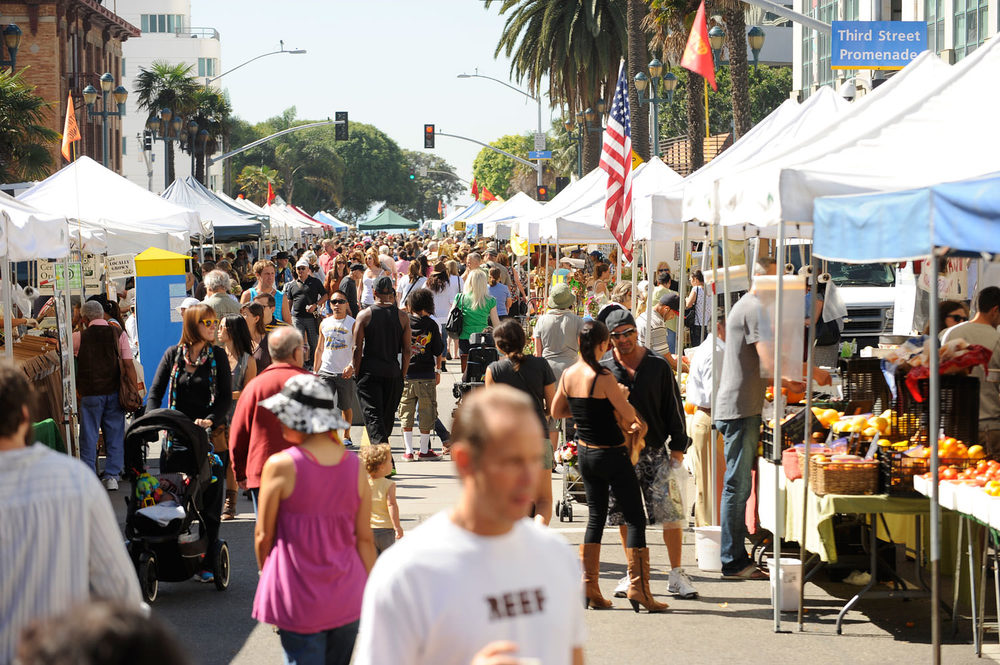 The Santa Monica Farmers Market is always a scene to be seen