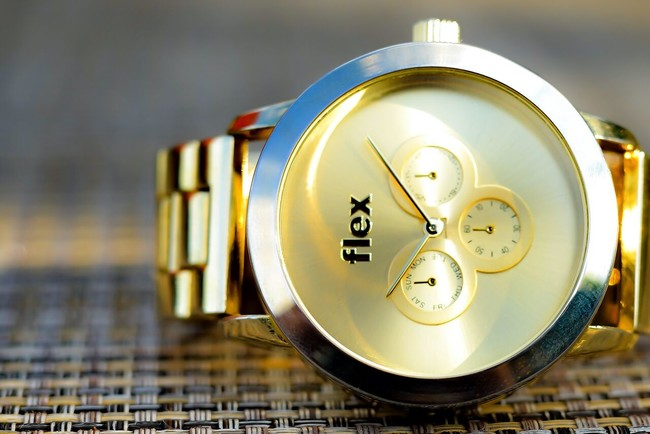 Gold Flex Watch