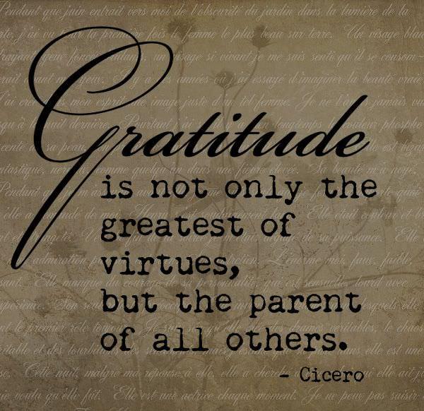 Gratitude Quote by Cicero