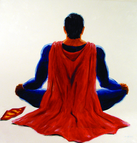 Superman Meditating