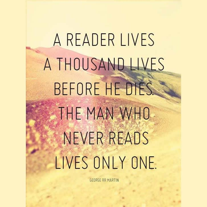 George RR Martin quote on reading
