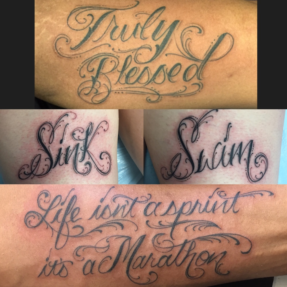 Script tattoos from a few weeks ago