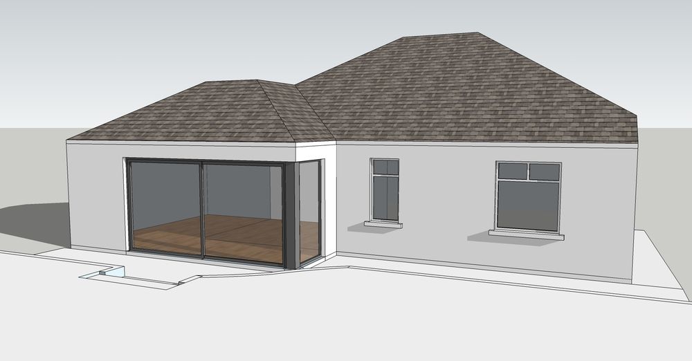 Proposed 3D sketch view - Craiglockhart Extension - MDA Studio Edinburgh Architect