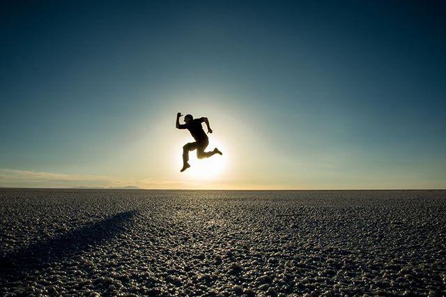 Jump man! #boliviasaltflats #bolivia